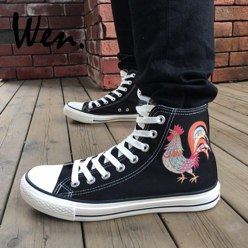 Wen diseño negro alta zapatillas de lona Original Gallo zapatillas de skate  para hombres al aire libre de las mujeres al aire libre Zapatos Deportivos  en ... 9da73edaeaa