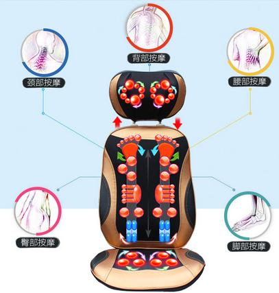 Cervical massage device neck household massage pad full-body multifunctional massage cushion cushion open back