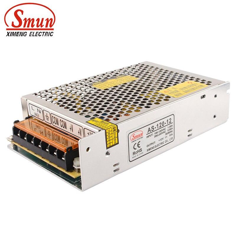 Импульсный источник питания SMUN AS-120-12 Mini размер 120W 12VDC 10A AC-DC