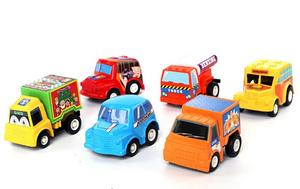 Image 2 - 6pcs/lot New Classic Boy Girl Truck Vehicle Kids Child Toy Mini Small Pull Back Car toys best gift for kids WYQ