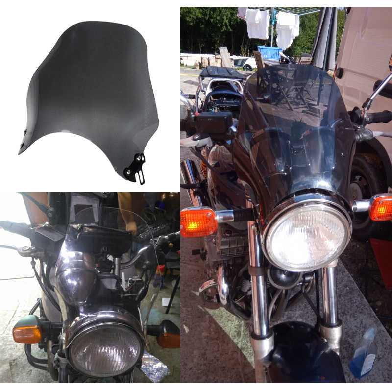 Wind Screen Motorcycle Windshield Windscreen For Yamaha XJR 400 1200 1300 XJR400 XJR1200 XJR1300 Dark Grey Clear