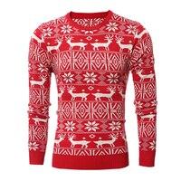 Mężczyźni Marka Jesień Sweter Jelenie Mężczyźni Dobrej Jakości Długi Rękaw Męska Swetry Sweter Z Dzianiny Pullover Mężczyźni Na Co Dzień Rozmiar 2xl S0716
