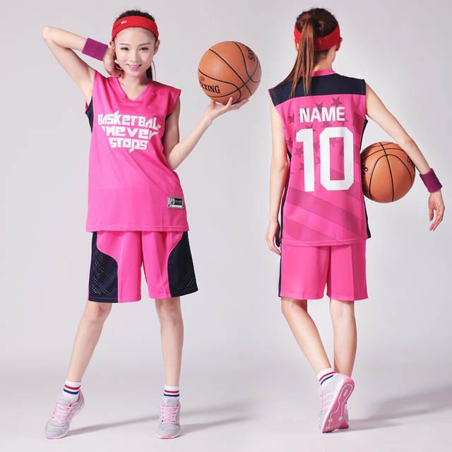 577d4c612e placeholder LOGOTIPO personalizado Número Basketball Jersey   Shorts 2 pcs  Set Mulheres Terno Sportswear Sem Mangas S