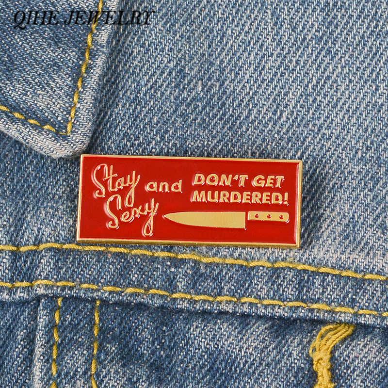 QIHE ювелирные изделия мой любимый убийство Подкаст шоу MFM красный нагрудные булавки Феминистская броши для woen Femael ювелирные изделия