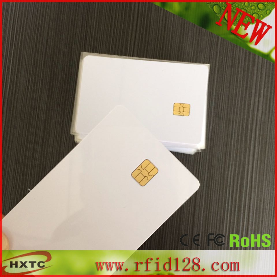 100PCS/Lot  Contact Printable PVC  BIank Smart IC Card With FM4442 Chip For Epson /Canon Inkjet Printer Suitable POS System 20pcs lot contact sle4428 chip gold card with magnetic stripe pvc blank smart card purchase card 1k memory free shipping