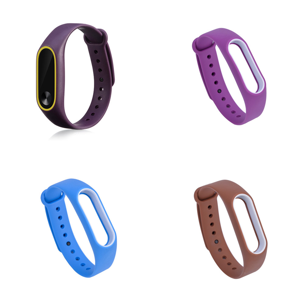 Double Color For Mi Band 2 Accessories Pulseira For Miband 2 Strap Replacement Silicone Wriststrap For Xiaomi Mi2 Smart Bracelet