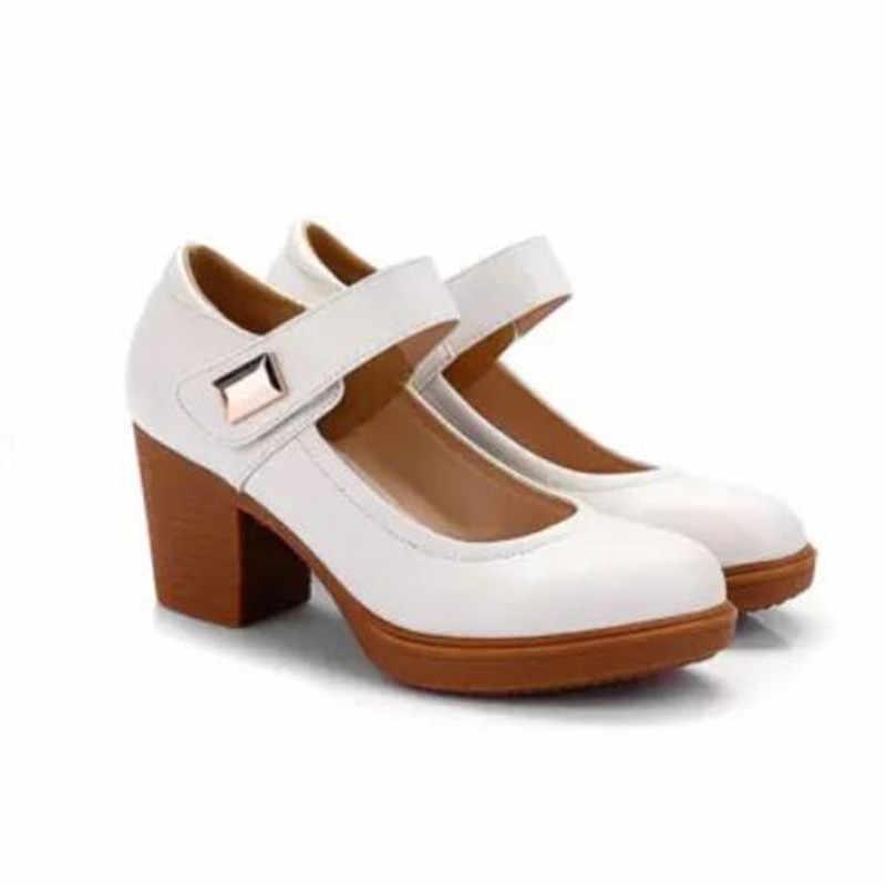 Gktinoo Thương Hiệu Giày Người Phụ Nữ Giày Cao Gót 2020 Mới Mùa Xuân Thanh Lịch Bằng Da Giày Nữ Giày Nữ Đen Trắng