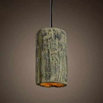 북유럽 현대 간략한 빈티지 미국 로프트 시멘트 에디슨 펜던트 램프 주방 바 식사 거실 홈 장식 조명기구
