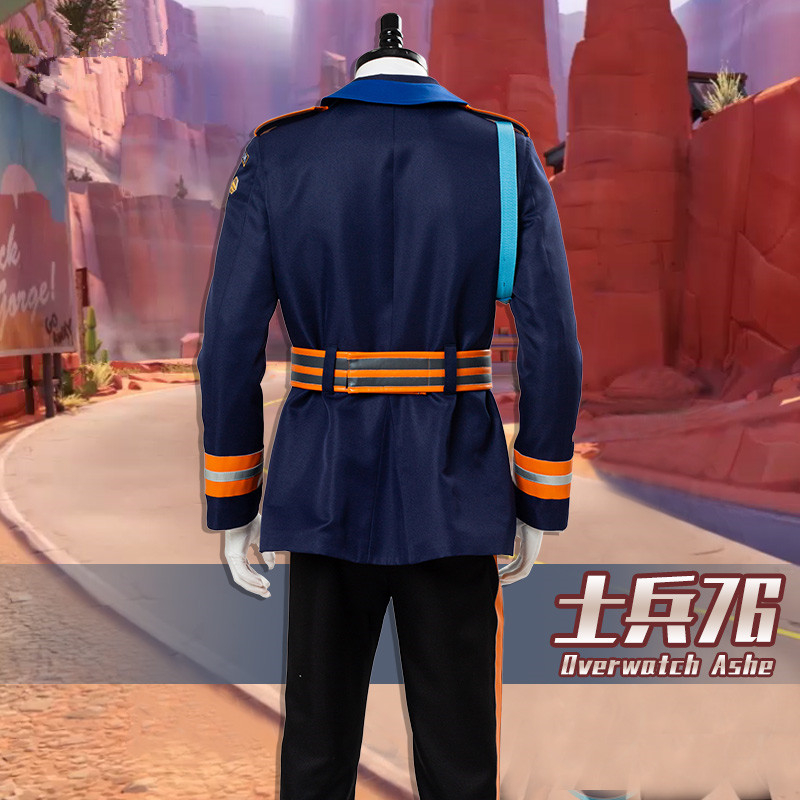 McCree Cosplay Costume Ashe Soldier:76 cosplay costume for man can custom made 2