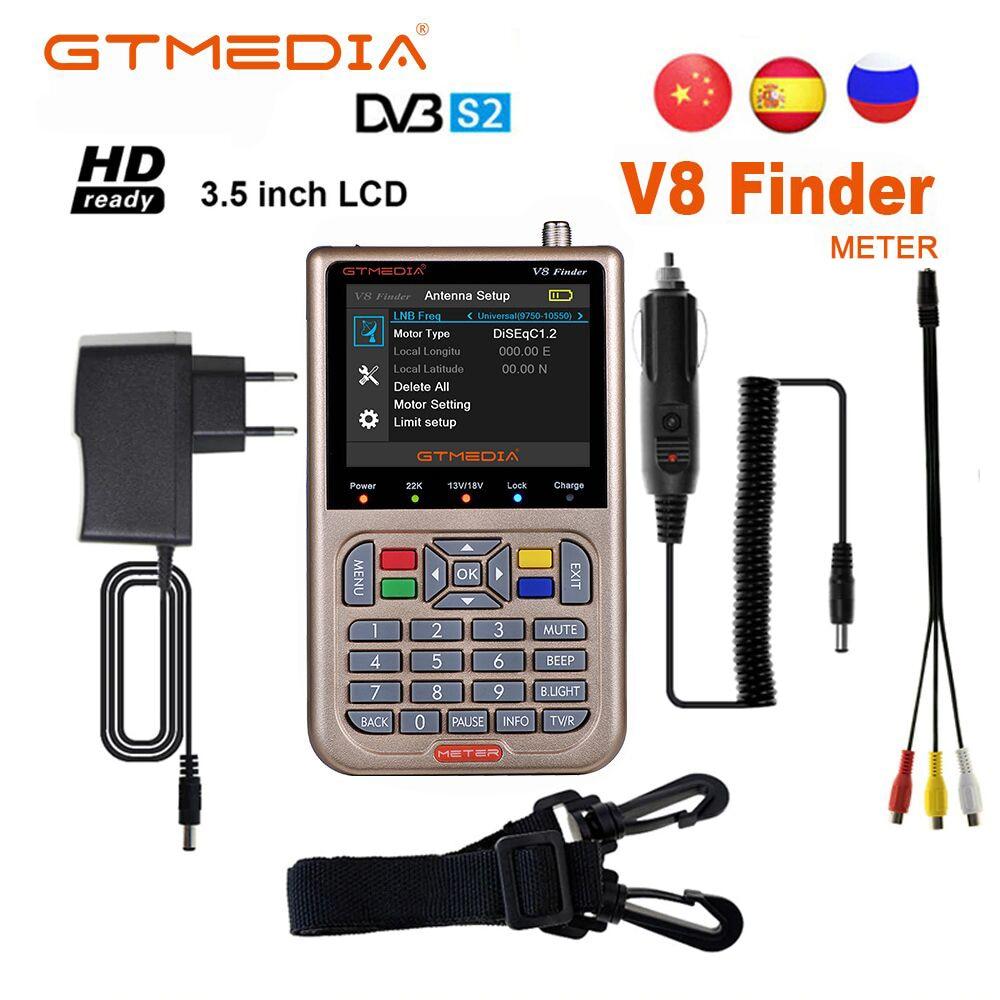 Satellite Finder Meter V8 Finder HD DVB-S2/S2X SatFinder MPEG2 MPEG4 With 3000mA Battery GTMEDIA V8 Finder FTA Sat Finder