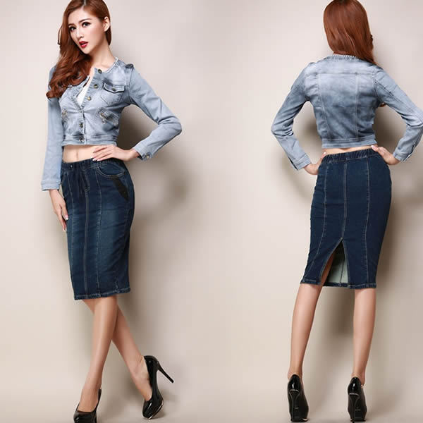 New Summer Women Jean Skirts Women's Casual Denim Skirts Slim Sexy ...