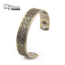 My Shape  Engraved Hot Yin Yang Chinese Traditional Totem Magnetic Bracelet personalized Bangle For Women Fashion Jewelry