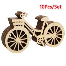 rustic wooden bicycle ornaments 10pcsset diy handmade bike crafts birthday party wedding decorations christmas supplies - Bicycle Christmas Ornament