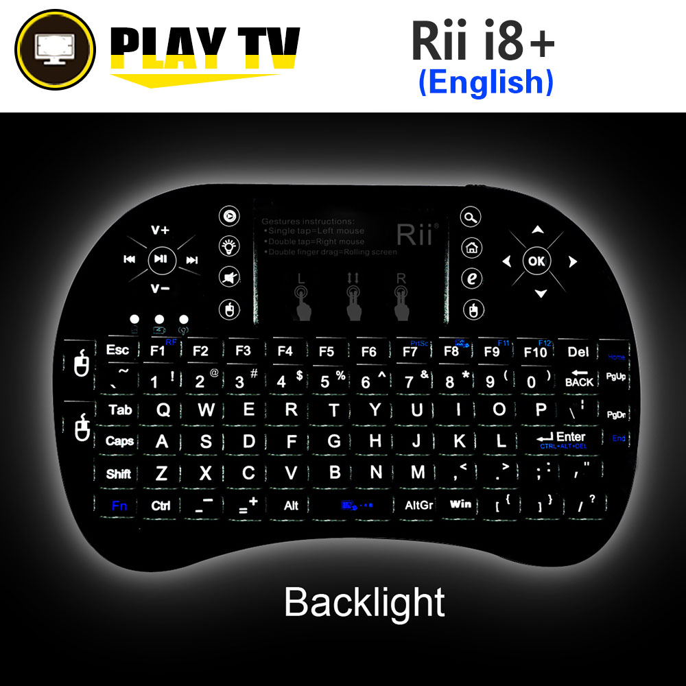 все цены на Rii mini i8+ 2.4GHz wireless keyboard backlit i8x Russian English Spanish Hebrew x8 handheld gaming for raspberry pi pc tv box