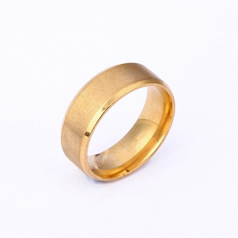 Zubehör mode männlichen breite ringe drahtziehen gold zeigefinger ...