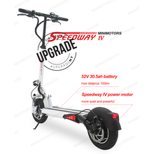 Minimotors Speedway 4 Плюс Электрический скутер талант дизайн 52 В 30.5A e-самокат