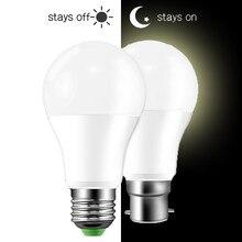 Lâmpada com sensor ip44, 10w, 15w, AC85 265V de anoitecer ao amanhecer, com sensor de luz diurna e noturna, autoligamento lâmpada led/desligada para iluminação doméstica