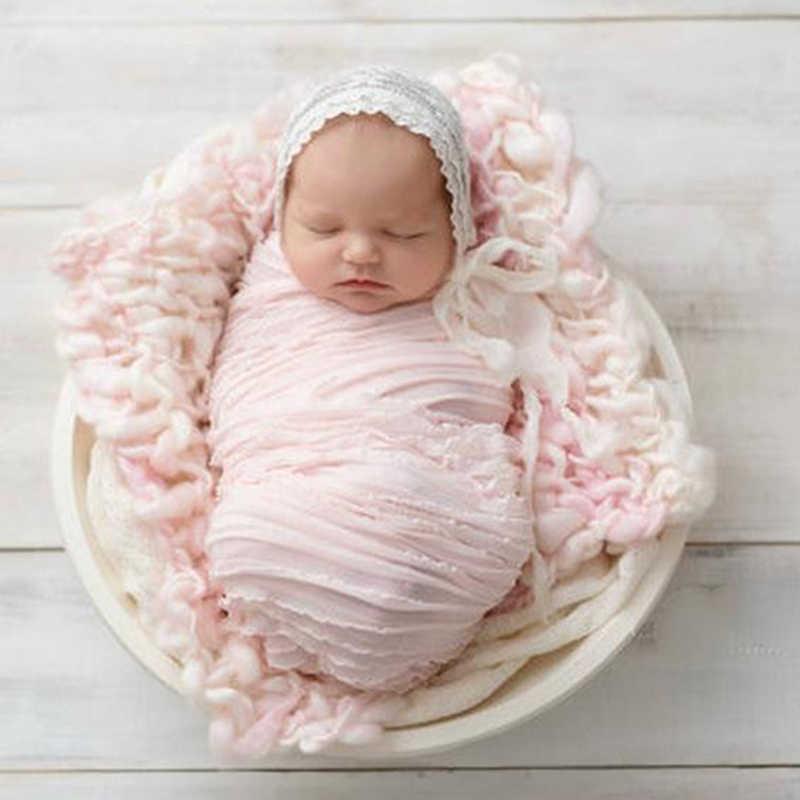 Детские реквизит для фотосъемки, одеяла, растягивающиеся вязаные гамаки для фотосъемки новорожденных, пеленальные накидки, 120*30 см