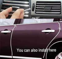 1 M U di Stile DIY Car Interior Air Conditioner Bocchetta Grille Chrome Decorazione Striscia Argentea car styling Spedizione gratuita
