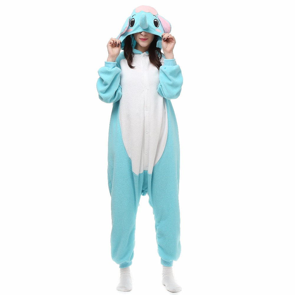 Christmas Cute Elephant Onesie Homewear Hoodie Pajamas Sleepwear Robe For Adults