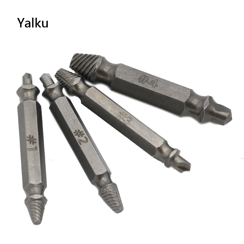 Extractor de tornillo dañado de doble lado Yalku 4pc Brocas S2 - Broca - foto 5