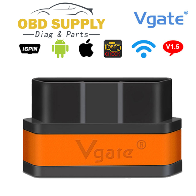 Special Price Original Vgate iCar2 Wifi OBD2 ELM327 China ELM 327 v2.1 Wi Fi OBDII Diagnostic Tool Scanner Wi-Fi OBDII For iPhone iOS Android