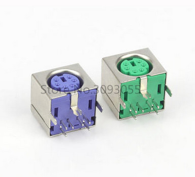 10pcs ps 2 ps2 connector for keyboard mouse blue 7pin 2pin socket rohs 2 colors in connectors. Black Bedroom Furniture Sets. Home Design Ideas