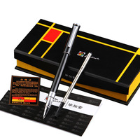 Pimio Rollerball Pen with Black Ink Refill Gift Set for Men Women Fine Point 0.5mm Office Ballpoint Pens with Gift Box