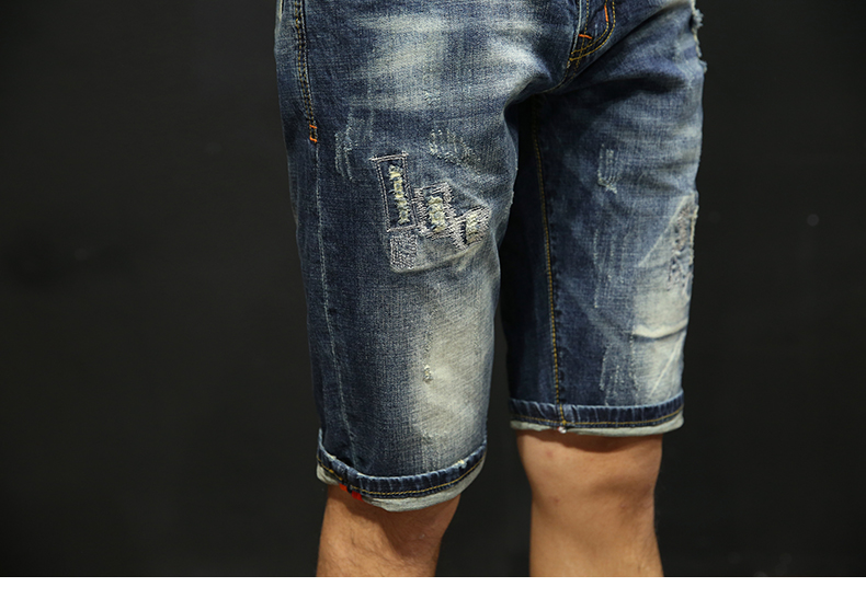 KSTUN Ripped Jeans for Men Shorts Jeans Retro Frayed Streetwear Jeans Shorts Hip hop Denim Pants Casual Male Shorts Brand Clothing 15