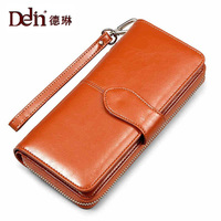 DELIN Wholesale new ladies purse explosion oil wax buckle short hand bag purse eighty percent off one generation