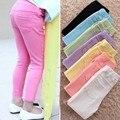 Polainas de las muchachas primavera nueva moda de ocio Baby Girls Leggings niños de 24 M - 7 T pantalones de color caramelo para las muchachas