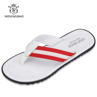 2017 Summer Cool Men Slippers Sandals Beach Slippers Weave Of Cloth Comfortable Fashion Slippers Men Flip