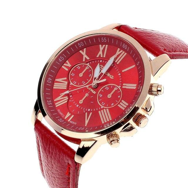 0352ceb0377 NEW Best Quality Geneva Platinum WristWatch Women PU Leather Watch casual  dress Clock reloj ladies gold gift Fashion Romantic