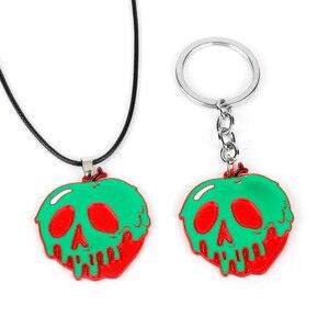 Хэллоуин ужас зеленый красный череп ожерелье брелок для мужчин и женщин забавная безделушка подарок
