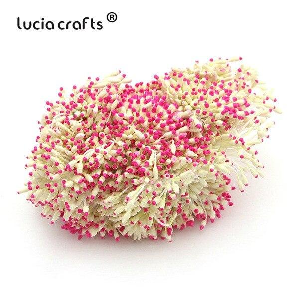 288 шт 60 мм разноцветные варианты наконечник пестик тычинка цветок тычинка украшения торта двойная головка тычинки D0501 - Цвет: color 13