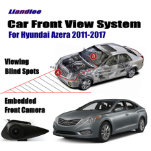 Liandlee Car Front View Logo Embedded Camera / Cigarette Lighter / For Hyundai Azera 2011-2017 2015 / 4.3 LCD Monitor Screen