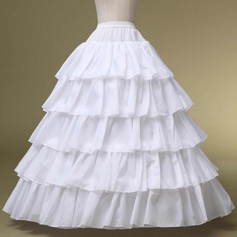 Di alta qualità Abito Da Sposa Sottoveste Bianca Speciale Regolabile Borse 4 Cerchio 5 Grande Foglia di Loto Bordo Strati Elastici