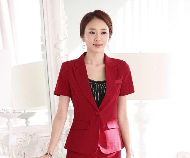 Formale Uniform Design Weibliche Blazer Kurzarm 2015 Sommer Mode-Business  Frauen Tops Jacken Arbeit Blazer 9e6c9bf888