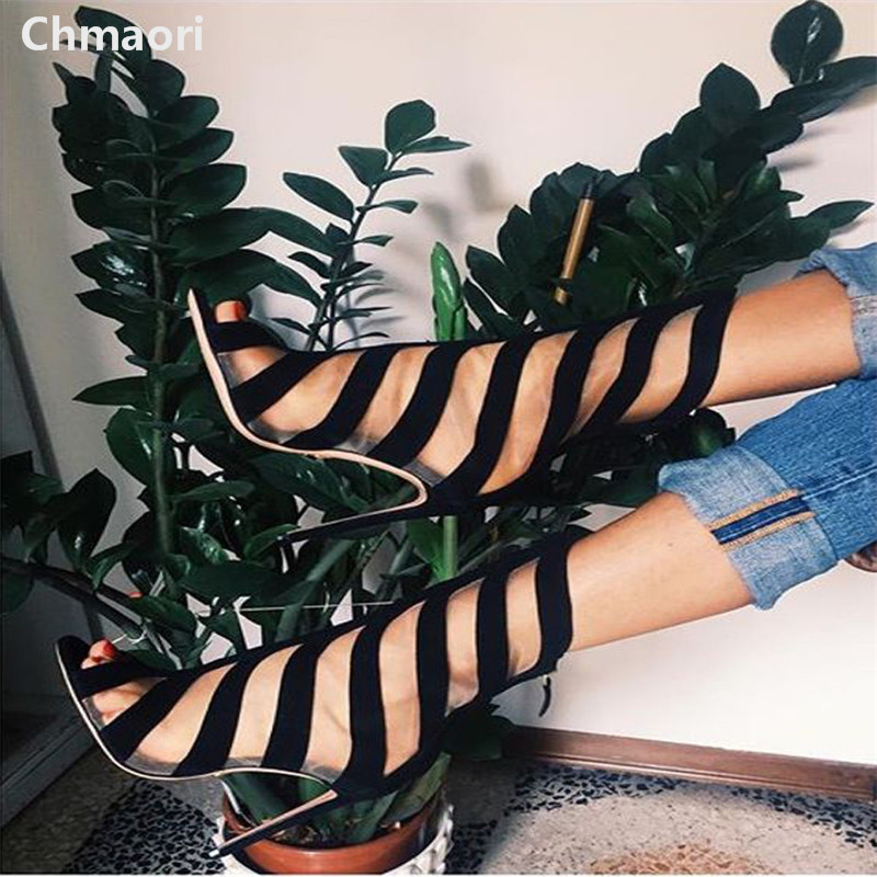 Sandalias Mujer Fashion Zip Open Toe Black Hollow Out High Heels Chaussure Femme Summer Women Gladiator Sandals Women Pump Shoes цена и фото
