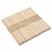 50Pcs Pack Birch Wooden Waxing Dispsoble Spatula Tongue Depressor Wax Medical Stick Sterile For Oral Examination