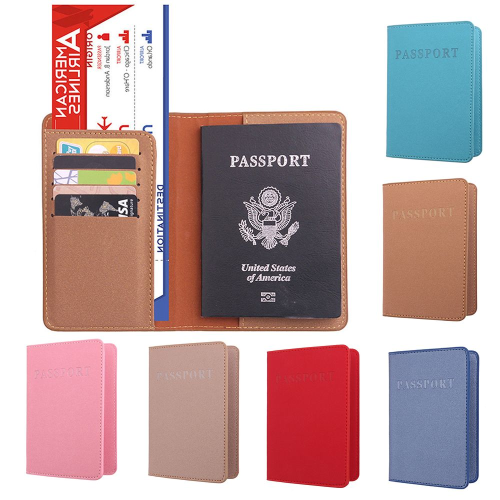 New Cover Passport Card Case Women Men Credit Card Holder Travel ID&Document Passport Holder Organizer PU Leather