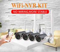 N_eye 4CH CCTV Kit 2MP Impermeabile del CCTV di Sorveglianza Esterna Sistema di Telecamere di Video Sorveglianza Professionale Wifi Kit Per La Sicurezza