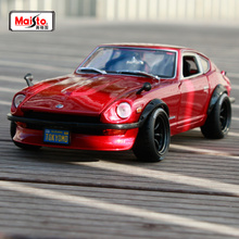 Maisto 1:18 1971 Nissan Datsun 240Z Devil's edition Red Sports Car Diecast Model Car Toy New In Box Free Shipping NEW ARRIVAL maisto 1 18 mini cooper sun roof diecast model car toy new in box free shipping 31656