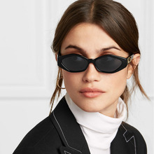 2019 New Sunglasses Fashion Brand Ladies Sun Glasses Small Frame Cat Eye Cool White 3D Leopard Frame Black Yellow Blue Lens