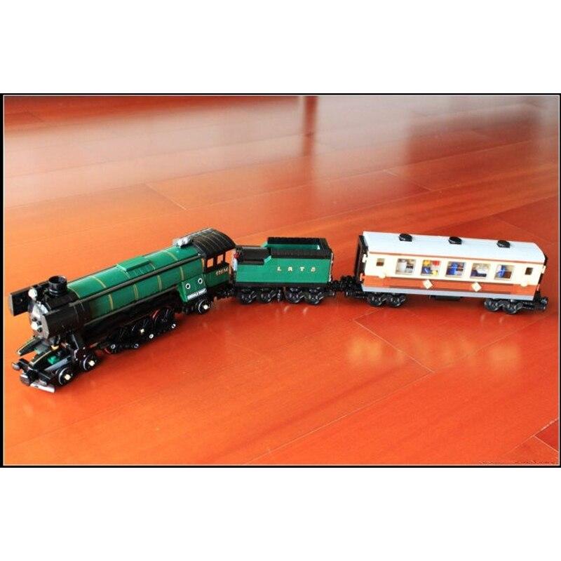 LEPIN 21005 1085Pcs Technic Series Emerald Night Train Model Building Kit Block Bricks Toys Compatible with legeod lepin 21007 creator horizon train series the horizon express model building block 1351pcs bricks compatible with lepind 10233