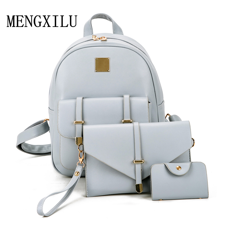 3 pçs/set mulheres pequenas mochilas Handle/strap Tipo : Soft Handle