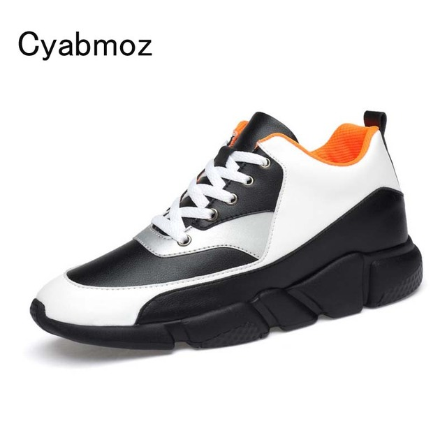 High Quality Men Elevator Shoes Fashion Breathable Casual Shoes Invisible Height Increasing 7 CM Platform Hidden heels Shoe