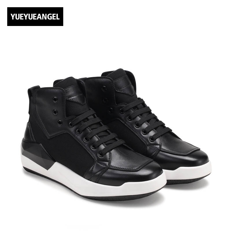 2018 Winter Punk Vintage Match Color New Fashion Mens Round Toe Ankle Boots Lace Up Genuine Leather Cow Male Shoe Wedge Heel 2017 england style men genuine leather cow new fashion lace up breathable casual shoes male vintage match color black coffee