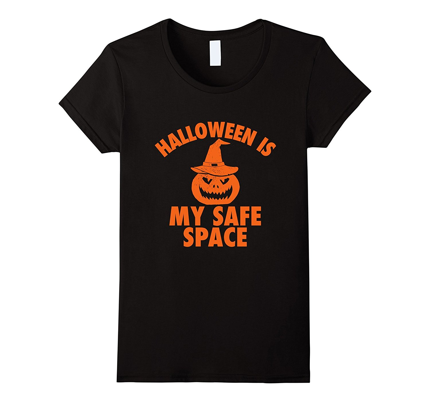 Halloween Is My Safe Space - Funny Pumpkin T Shirt Summer Casual Cotton Tops Tees Fashion Crazy Women Shirt Top Tee ...