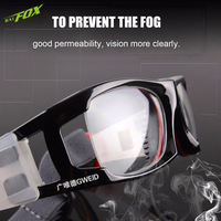 BATFOX Hot Men Football Basketball Protective Goggles PC Lens Outdoor Sports Ski Glasses Myopic Frame Prescription